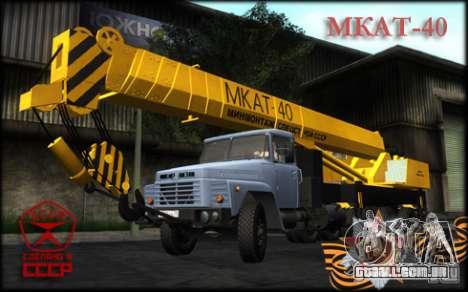 MKAT-40 com base no Kraz-250 para GTA San Andreas traseira esquerda vista