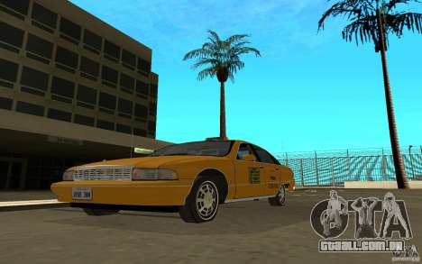 Chevrolet Caprice taxi para GTA San Andreas