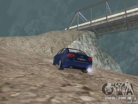 Audi S6 para GTA San Andreas traseira esquerda vista
