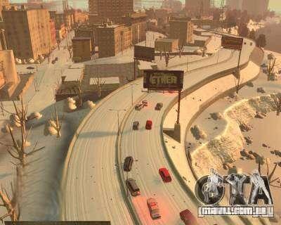 Chuva congelada para GTA 4 por diante tela