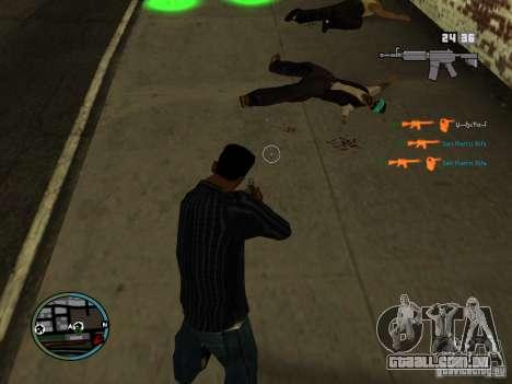 KILL LOG para GTA San Andreas por diante tela