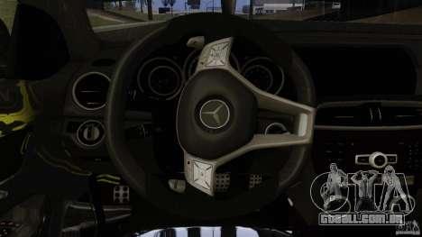 Mercedes Benz C63 AMG Black Series 2012 para GTA San Andreas vista inferior