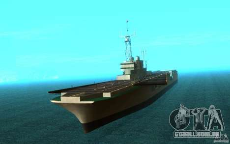 New Aircraft carrier para GTA San Andreas esquerda vista