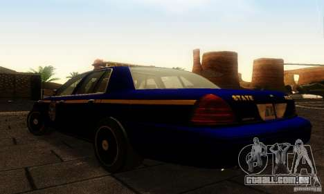 Ford Crown Victoria New York Police para GTA San Andreas esquerda vista