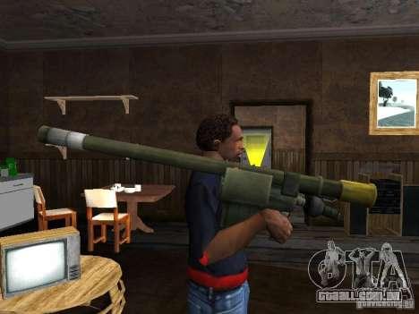 MANPADS agulha 2 para GTA San Andreas segunda tela