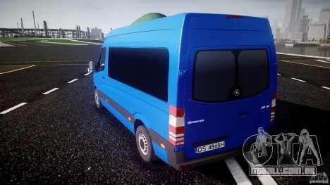 Mercedes-Benz ASM Sprinter Ambulance para GTA 4 traseira esquerda vista