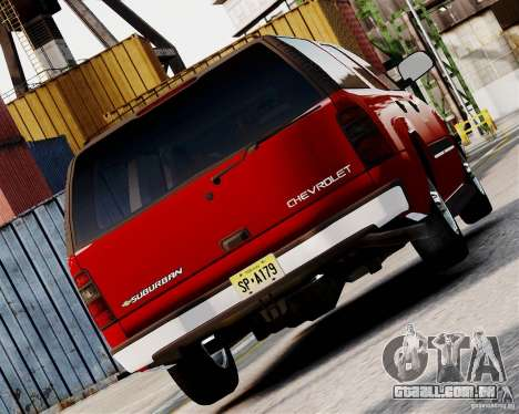 Chevrolet Suburban 2006 V1.1 CIVIL para GTA 4 traseira esquerda vista