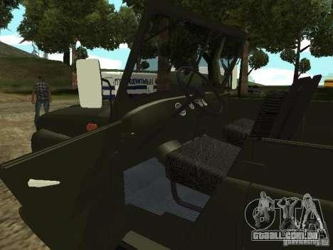 UAZ 469 para GTA San Andreas vista traseira