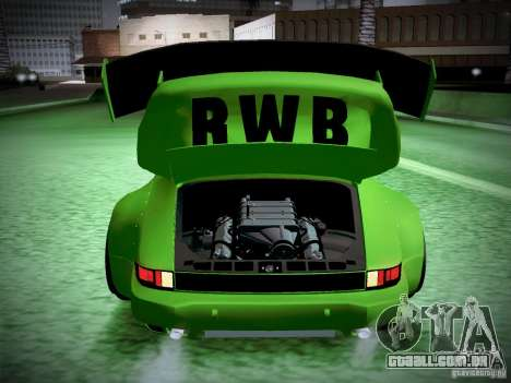 Porsche 911 Turbo RWB Pandora One para GTA San Andreas vista superior