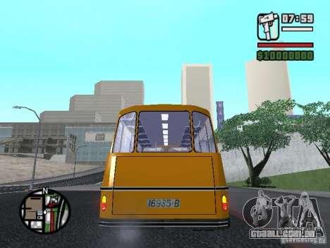 TV 7 para GTA San Andreas traseira esquerda vista