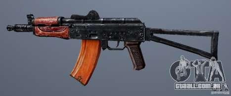 AKS74U para GTA San Andreas terceira tela