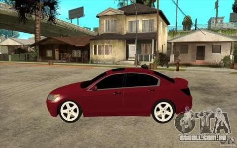 Honda Accord 2008 v2 para GTA San Andreas esquerda vista
