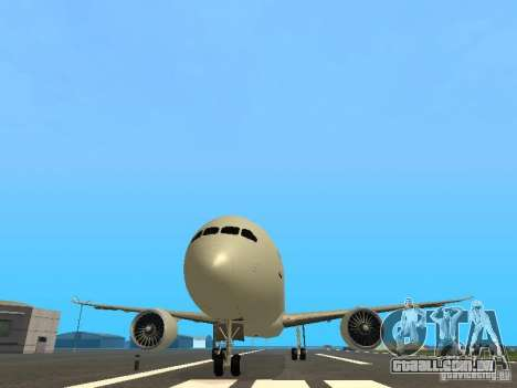 Boeing 787 Dreamliner Air Canada para vista lateral GTA San Andreas