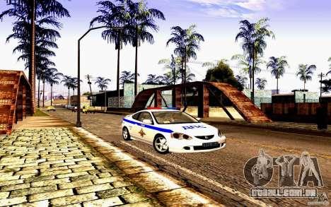 Acura RSX-S polícia para GTA San Andreas vista traseira