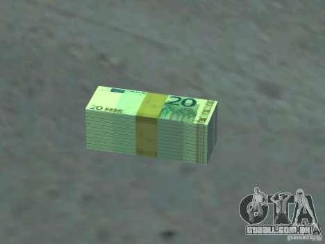 Euro money mod v 1.5 20 euros I para GTA San Andreas