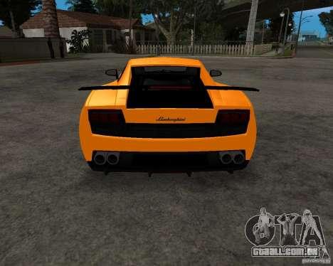 Lamborghini Gallardo LP570 Superleggera para vista lateral GTA San Andreas