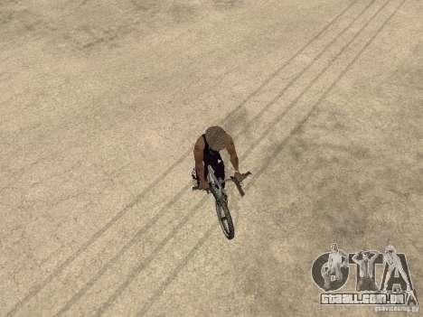 Ocultar-traz as armas no carro para GTA San Andreas quinto tela