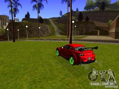 Mazda RX-8 R3 Tuned 2011 para GTA San Andreas traseira esquerda vista