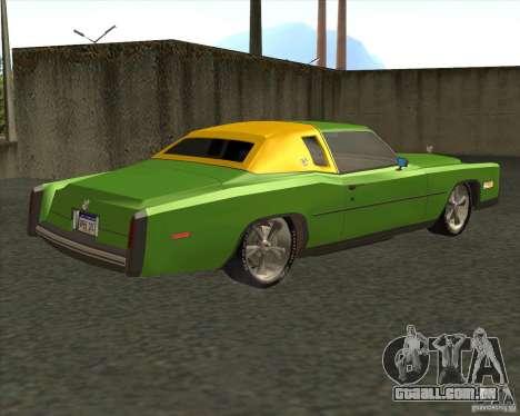 Cadillac Eldorado para GTA San Andreas vista inferior