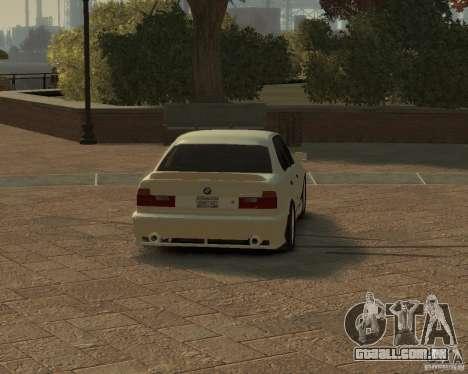 Bmw 535i (E34) tuning para GTA 4 traseira esquerda vista