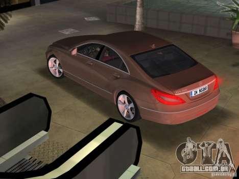 Mercedes-Benz CLS350 para GTA Vice City deixou vista