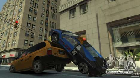 Lamborghini Reventon Police Hot Pursuit para GTA 4 vista superior