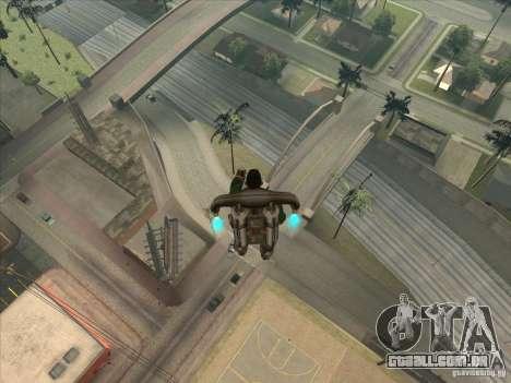 Saltar o Jet pack para GTA San Andreas segunda tela