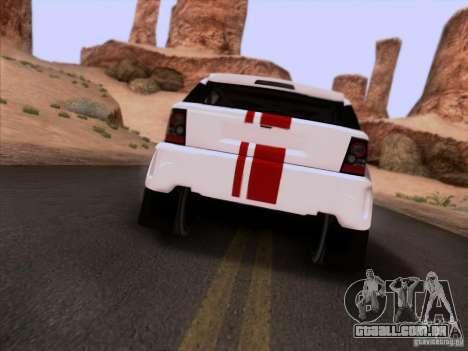 Bowler EXR S 2012 para GTA San Andreas vista traseira