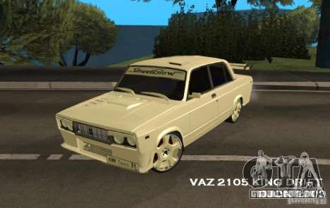 Rei do Drift 2105 VAZ para GTA San Andreas