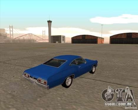Chevrolet Impala 427 SS 1967 para GTA San Andreas vista traseira
