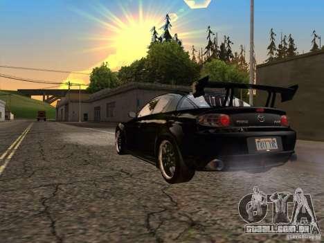 Mazda RX-8 Varis Custom para GTA San Andreas traseira esquerda vista