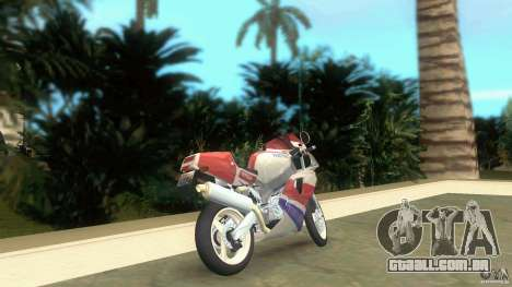 Yamaha FZR 750 white lighted para GTA Vice City vista traseira esquerda
