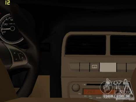 Fiat Linea T-jet para GTA San Andreas vista traseira