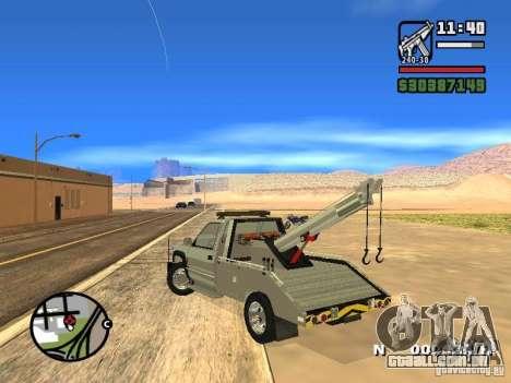 GMC Sierra Tow Truck para GTA San Andreas traseira esquerda vista