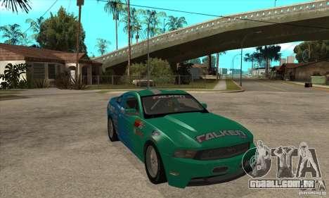 Ford Mustang GT Falken para GTA San Andreas vista traseira