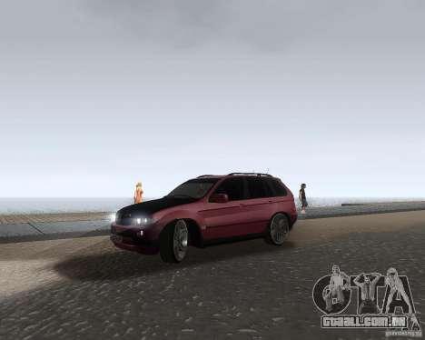 BMW X5 Sport Tun para GTA San Andreas esquerda vista