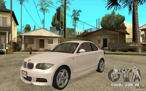 BMW 135i Coupe para GTA San Andreas