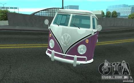 Volkswagen Transporter T1 SAMBAQ CAMPERVAN para GTA San Andreas vista inferior