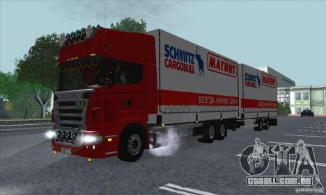 Trailer de Scania R620 para GTA San Andreas vista interior