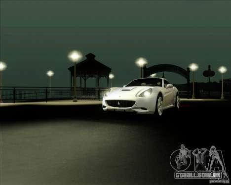 Ferrari California 2009 para GTA San Andreas vista direita