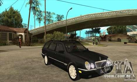 Mercedes-Benz W210 E320 1997 para GTA San Andreas vista traseira