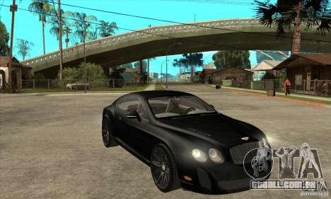 Bentley Continental Supersports para GTA San Andreas vista traseira