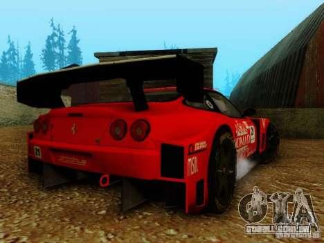 Ferrari 550 Maranello Super GT500 para GTA San Andreas esquerda vista
