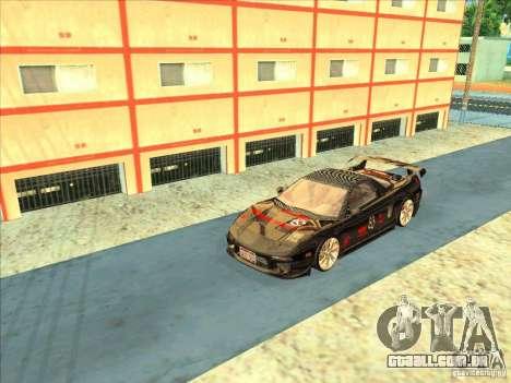 Acura NSX 1991 Tunable para GTA San Andreas vista traseira