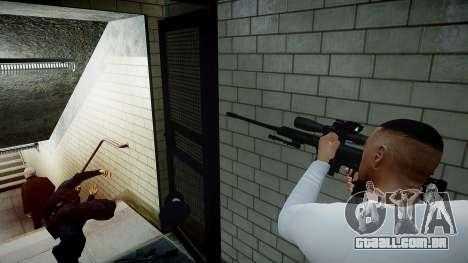 Barret 98B (sniper) para GTA 4 quinto tela