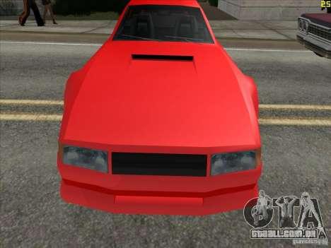 Cores mais brilhantes para carros para GTA San Andreas segunda tela