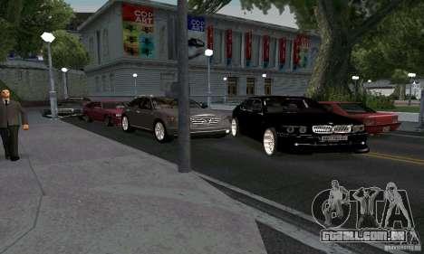 BMW 760LI para GTA San Andreas vista traseira