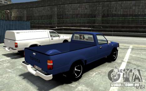 Toyota Hilux 1989-1993 Single cab v1 para GTA 4 vista direita
