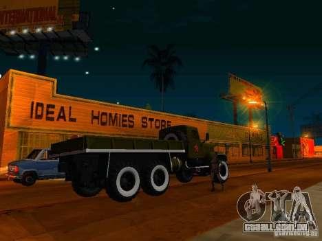 KrAZ caminhão Parade para GTA San Andreas esquerda vista