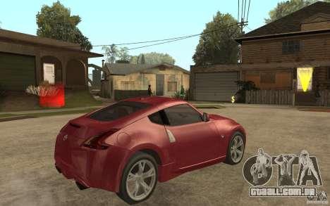 Nissan 370Z 2010 para GTA San Andreas vista direita